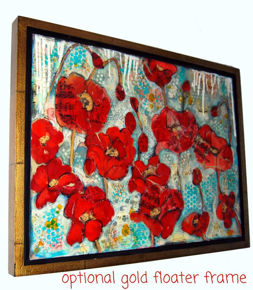 red poppy art | collect this art on https://www.etsy.com/listing/14311135/modern-red-poppy-flower-art-original