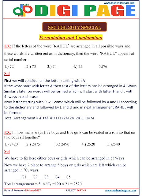29.06.2017 ENG PERMUTATION & COMBINATION