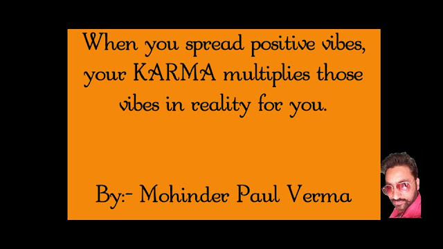 Making Self Success - Your KARMA multiplies your vibes
