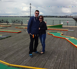 We had great fun playing the Southend Pier Crazy Golf course in the summer. The layout is 1.3 miles out to sea!