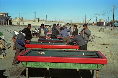 Qinhaï, Golmud, billiard, © L. Gigout, 1990