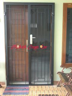 pintu kawat nyamuk besi minimalis