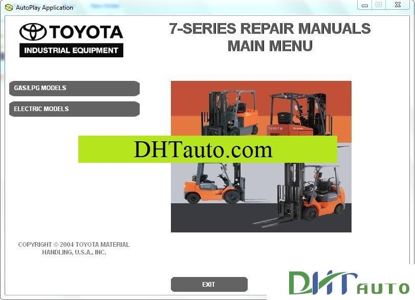 Toyota Forklift 7 Series Repair Manuals  2004