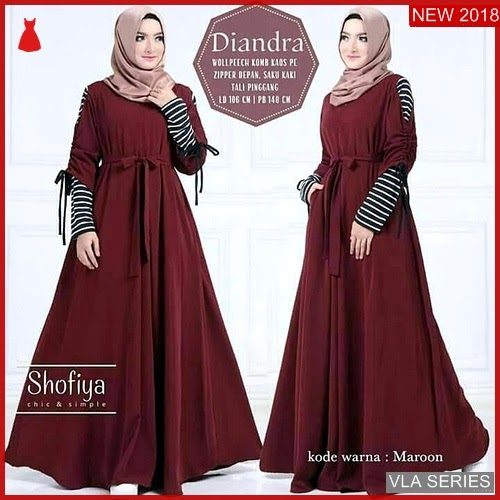 VLA006D68 Model Dress Diandra Terbaru Murah BMGShop