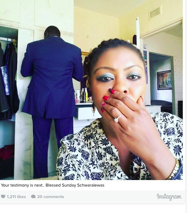 Afia Schwarzenegger sparks rumours of engagement with new ring