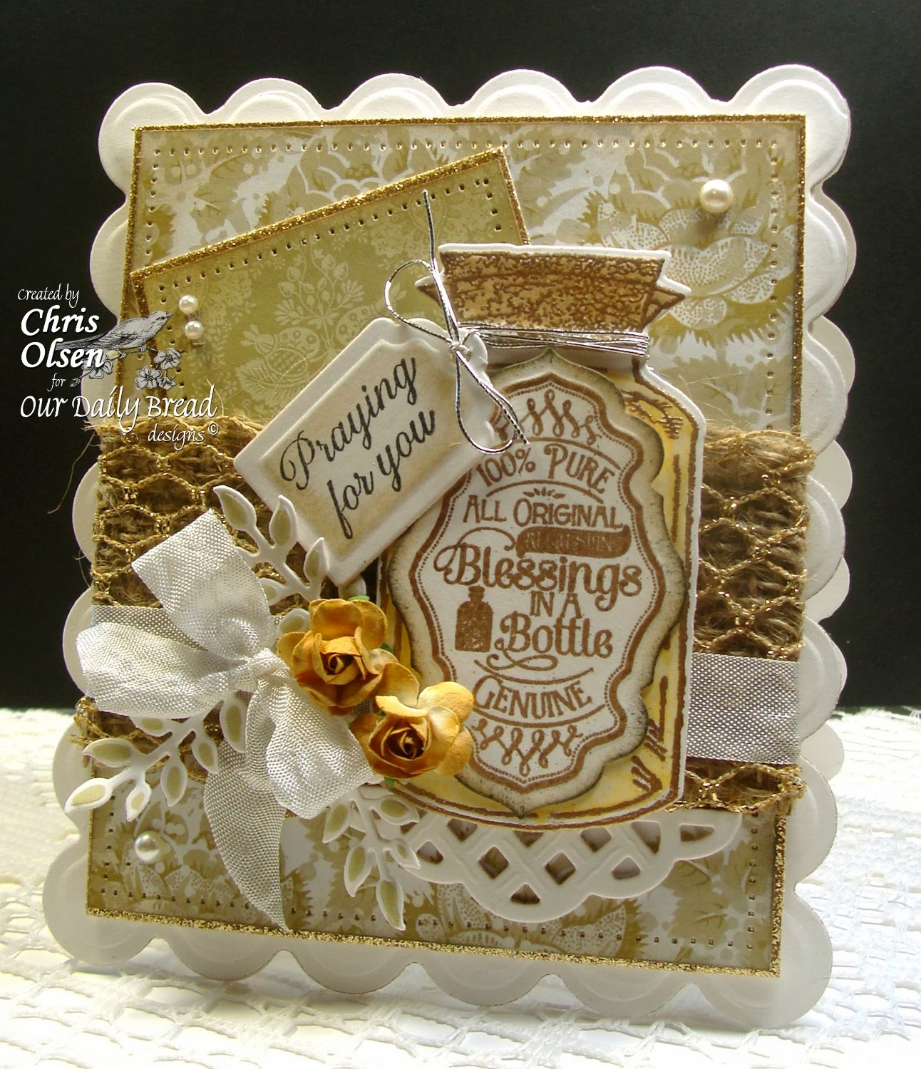 Our Daily Bread Designs, Apothecary Bottles, Joy in a Jar, Ornate Border Sentiments, Apothecary Bottles, Antique Labels and Borders, Recipe and Tags Die, Chris Olsen