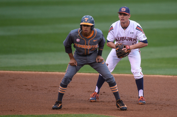 Auburn in the alternate striped uniforms versus Tennessee in all Smokey Grey