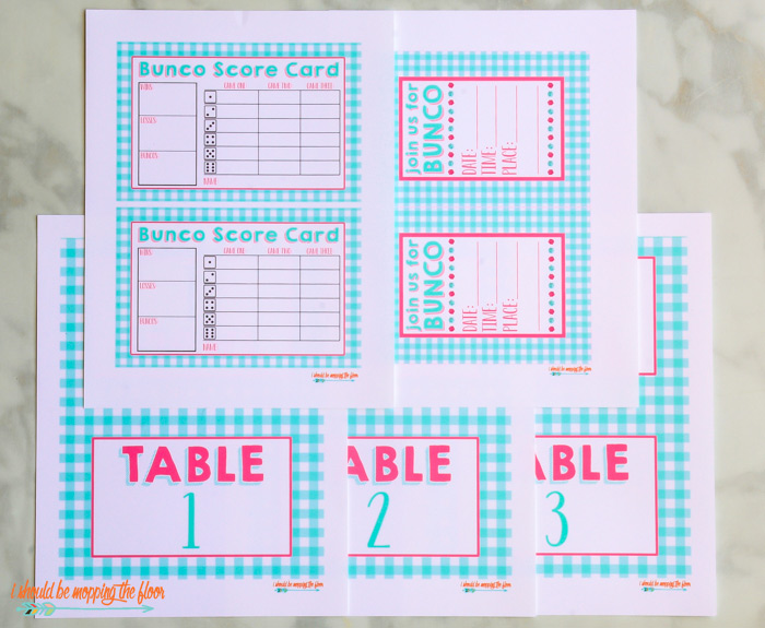 Spring Bunco Kit