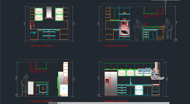 Kitchen in AutoCAD