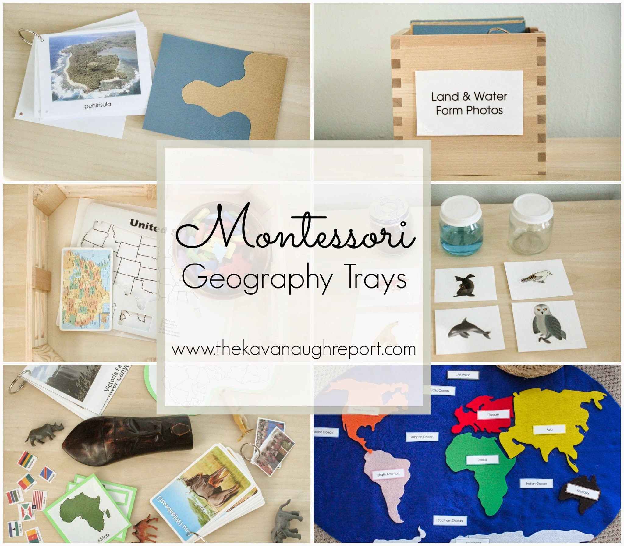 Montessori activities for preschoolers interested in geography. These easy DIY ideas are perfect for 3 and 4-year-old homeschooling.