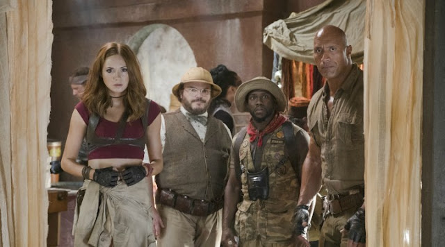 'JUMANJI: WELCOME TO THE JUNGLE': Virtual Reality Adventure Transcends Reality. Review of the 2017 re-boot with Dwayne Johnson. Text © Rissi JC