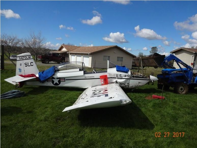 Kathryn's Report: Vans RV-8, N470LM: Accident occurred February 23