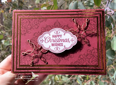 Flourish Filigree, Rhapsody in craft, Heart of Christmas, Christmas card, DIY cards