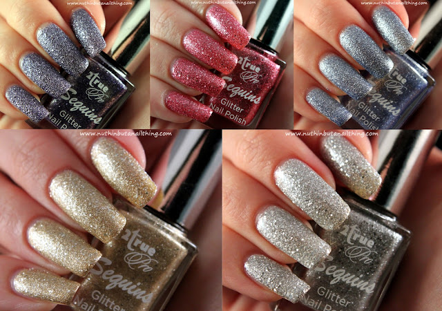 2True Sequins Glitter - Full collection swatches