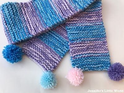 How to knit a simple scarf