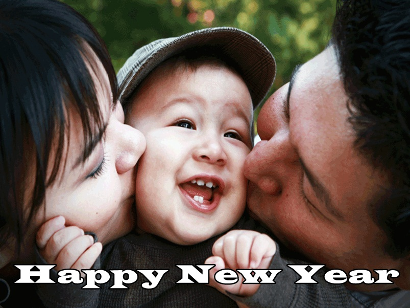 New Year Wishes Image for Son