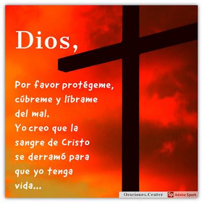 Oración de Protección de la Sangre de Cristo