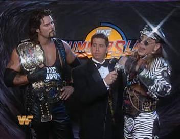 WWF / WWE - Summerslam 1994: Todd Pettengill talks to tag team champions Shawn Michaels & Diesel