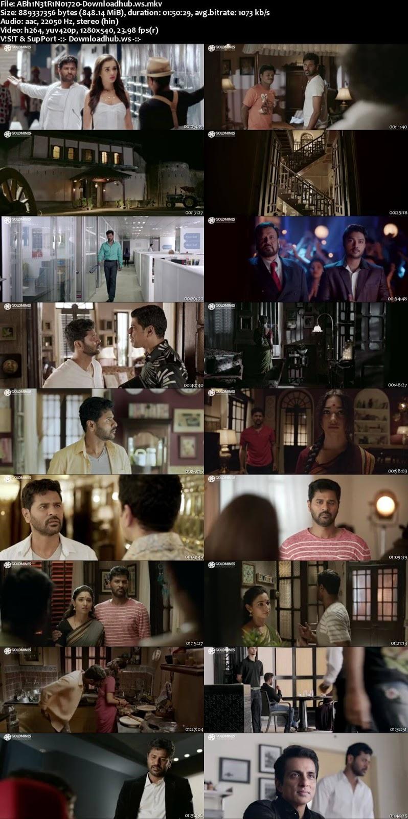 Abhinetri No 1 2018 Hindi Dubbed 720p