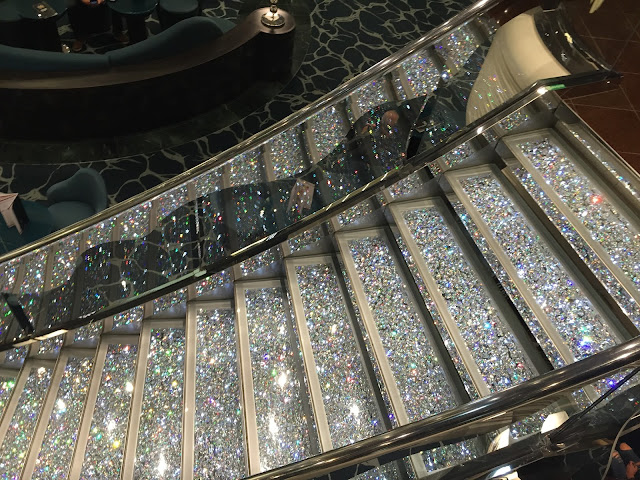 MSC Preziosa swarovski stairs