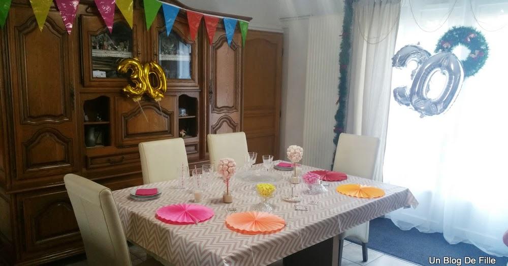 Un blog de fille d coration table d 39 anniversaire rose for Decoration 30 ans