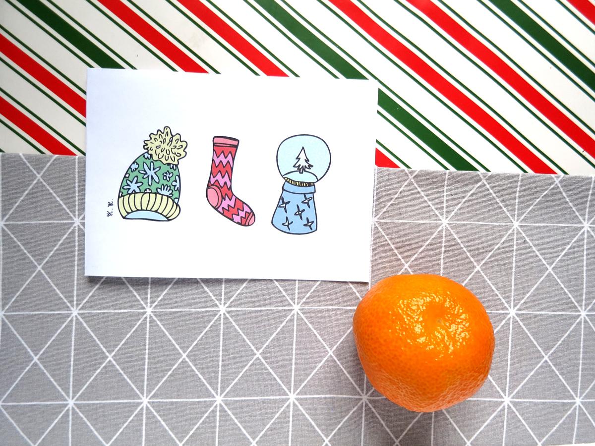 Świąteczne kartki do druku - za darmo