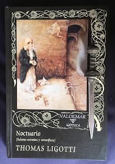Portada del libro Noctuario, de Thomas Ligotti