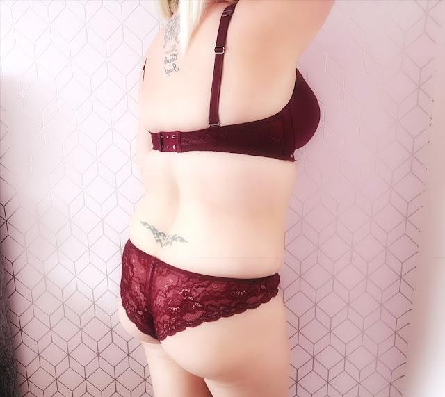 Hunkemoller burgundy lingerie