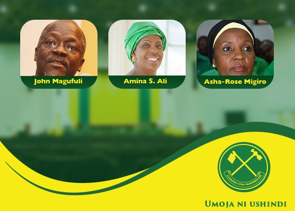 CCM TOP 3: NEC elects Dr Magufuli, Dr Migiro and Amina S. Ali