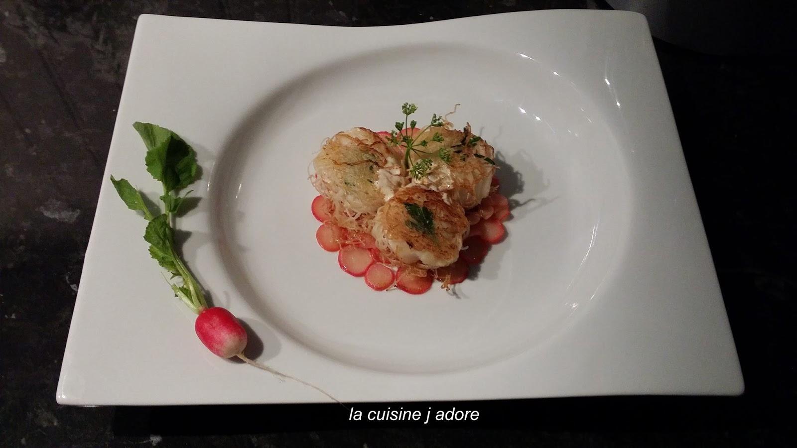 La cuisine j adore croustillant de saint jacques - Faire une emulsion en cuisine ...