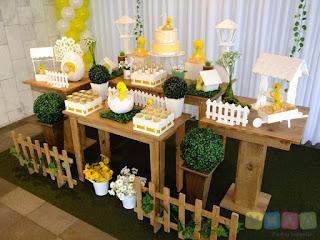 Decoração festa infantil Pintinhos Amarelinhos