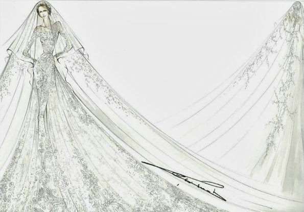 wedding gown by Elie Saab
