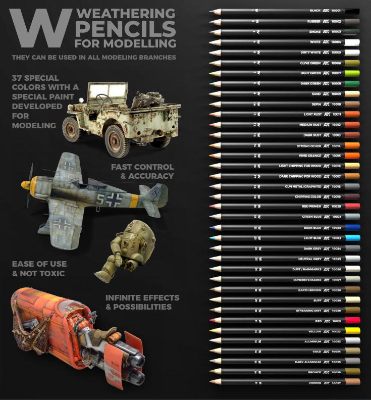 Dark Grey AK10024 AK Interactive Pencils