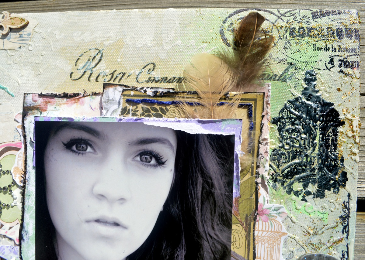 Life Captured Scrapbook Page by Agnieszka Bellaidea using BoBunny Madeliene Collection