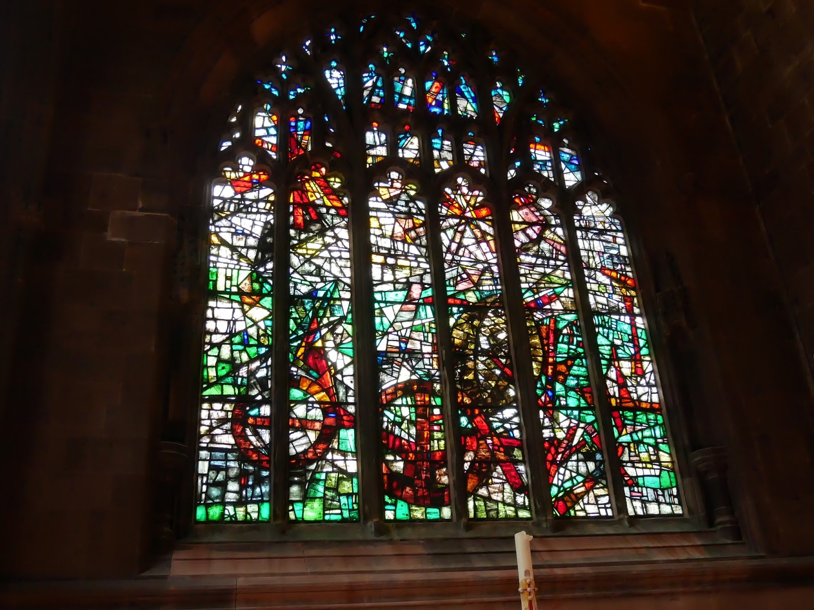 A stained glass window at Manchester Cathedral - Lumix GX80