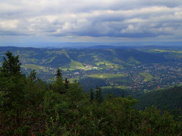 Podhale widziane ze szczytu (1377 m n.p.m.)