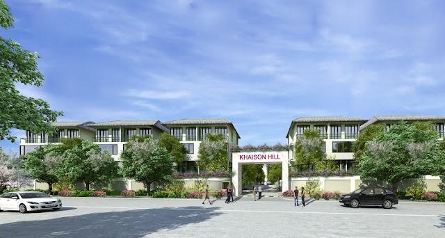 cổng vào khu biệt thự Khai Sơn Hill