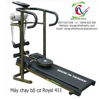 Máy chạy bộ cơ 4 chức năng ROYAL 411