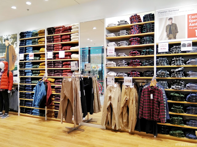 Uniqlo Amsterdam men fashion pants and shirts