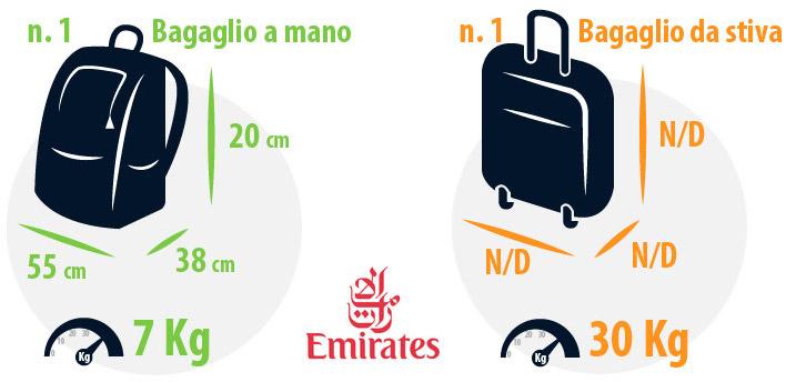 Regole bagaglio a mano e da stiva emirates for Emirati limite di peso del bagaglio a mano