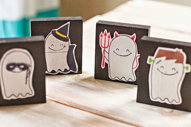 printable halloween ghosts: Carissa Miss