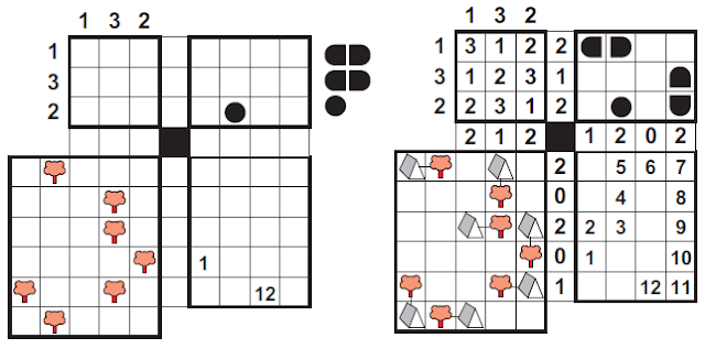 Rules of Four Squares Logic Puzzle