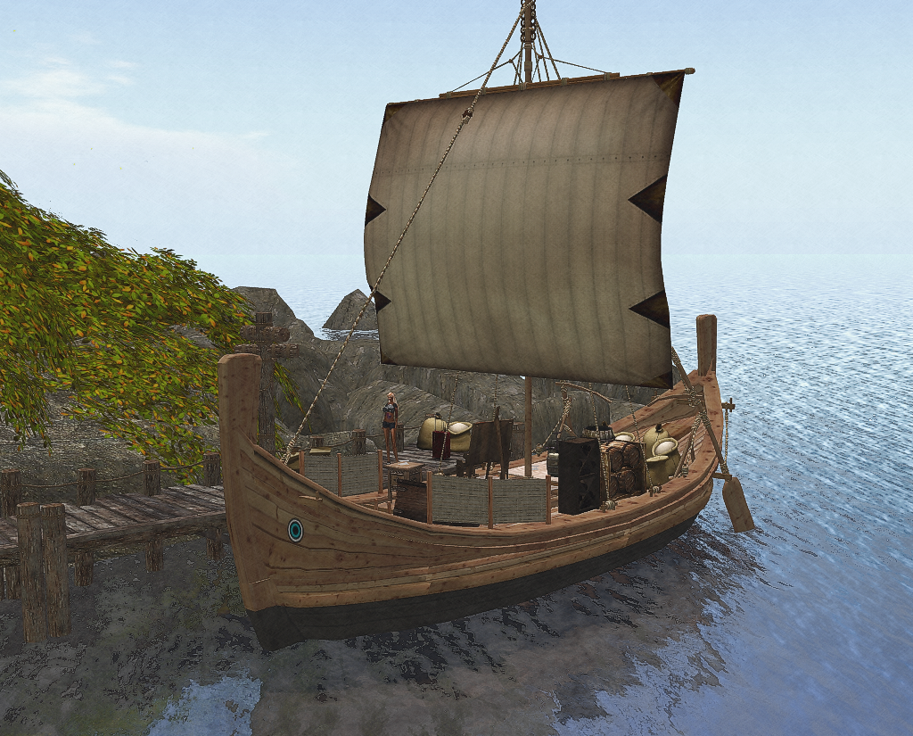 SL-Inspiration: Isla Okiddo Long Boat in Second Life