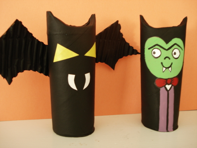 A Faithful Attempt Cardboard Tube Creatures Vampire Bat And Cat