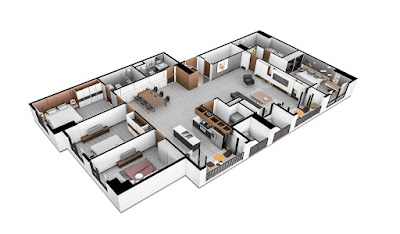 Dream land bonanza DT: 174,6m2 gồm 4 phòng ngủ và 3 WC