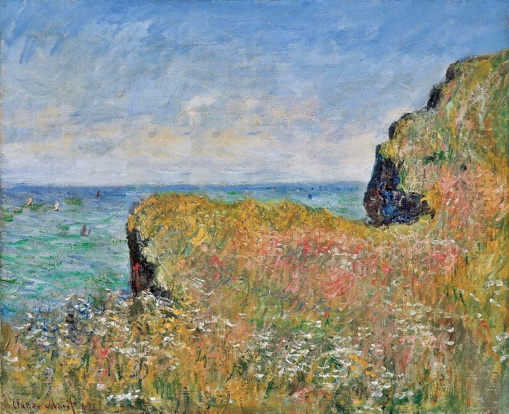 Bords de la falaise à Pourville (1882)