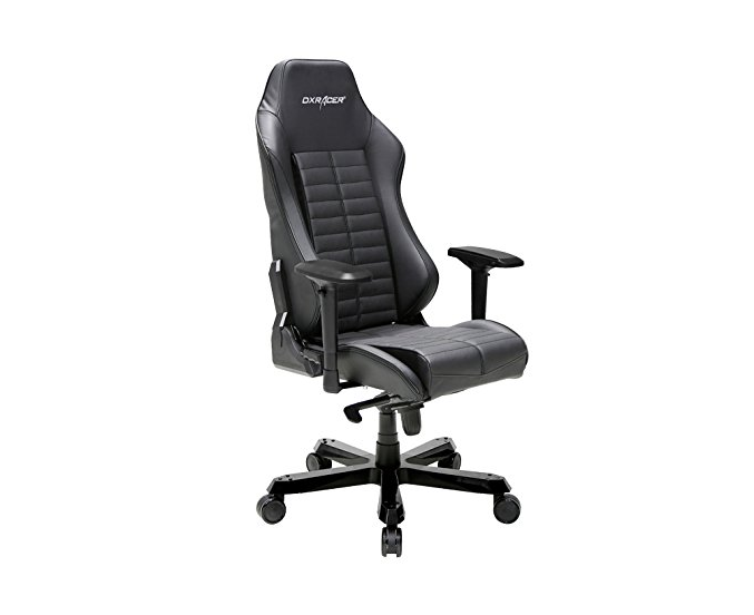 DXRacer Iron Series DOH/IS188/N Complete Grain Leather Racing Bucket Seat Office Chair