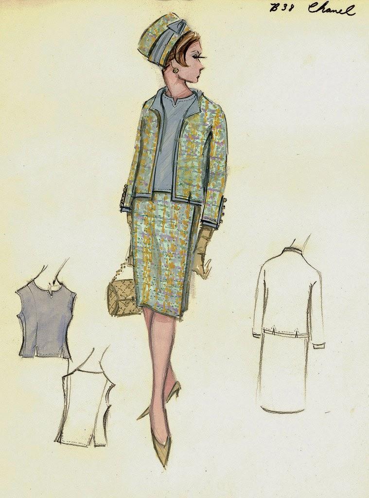 Vestidos De Folklorica Bocetos Vintage De Chanel Vintage Chanel