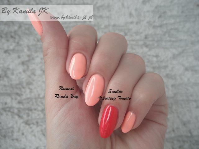 Lakier hybrydowy manicure Neonail Ramla Bay Semilac Vibrating Tomato