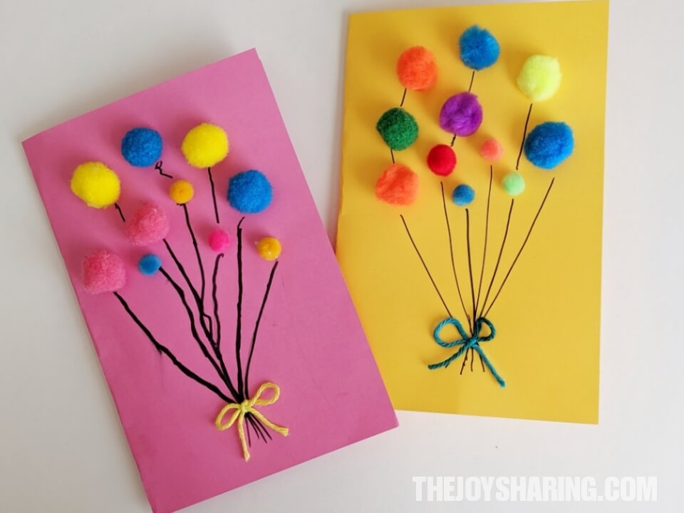 Marvelous Pom Pom Balloons Birthday Card The Joy Of Sharing Funny Birthday Cards Online Inifofree Goldxyz